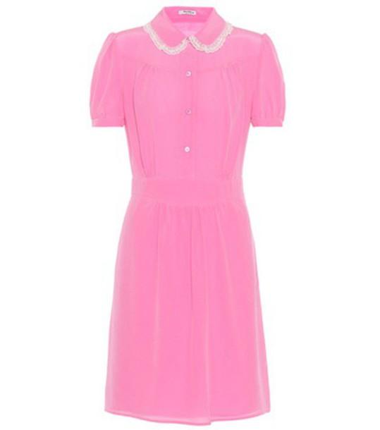 Miu Miu dress silk dress silk pink