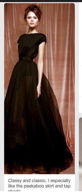 dress black prom dress with peekaboo shorts