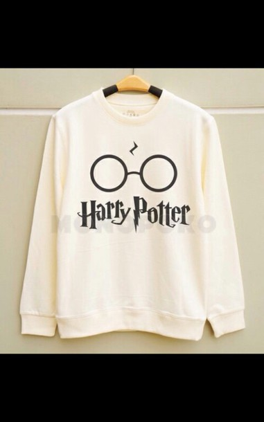 sweater harry potter white sweater