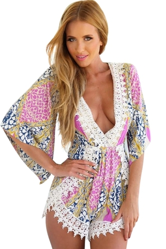 romper zaful floral playsuit floral top clothes sexy cute summer beautiful fashion girl