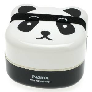 Amazon.com | Kotobuki 280-129 2-Tiered Bento Box, Panda Face: Bento Set: Pasta Bowls
