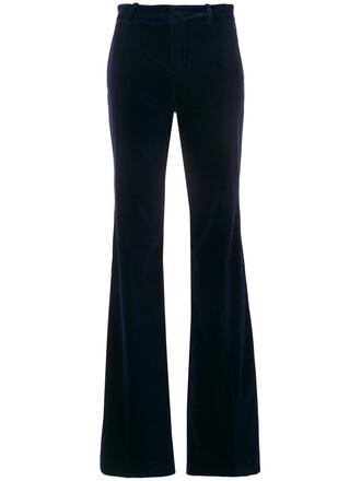 women classic spandex cotton blue pants