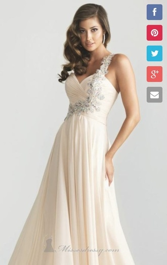 dress prom dress beige dress nude dress pretty