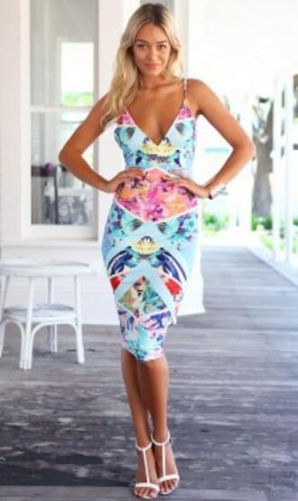 dress floral midi dress bodycon