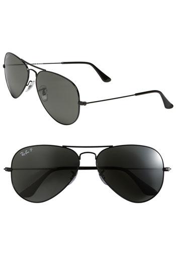 Ray-Ban 'Polarized Original Aviator' 58mm Sunglasses | Nordstrom