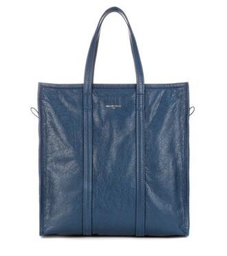 leather blue bag