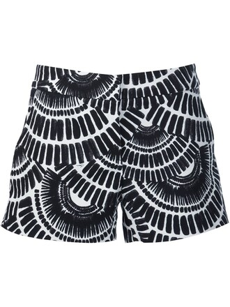 shorts ethnic print black
