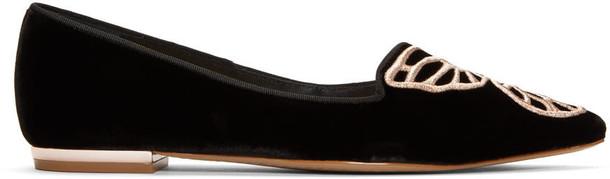 Sophia Webster butterfly flats black velvet shoes