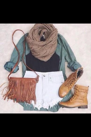 scarf blouse bag top