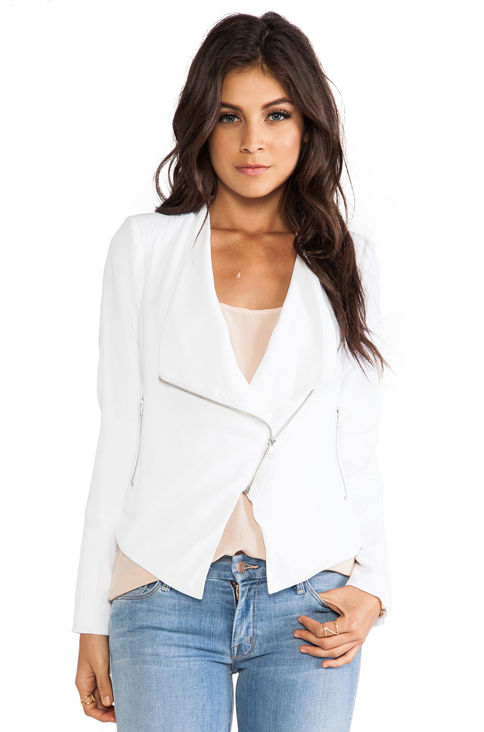 BB Dakota Korina Jacket in Optic White from REVOLVEclothing.com