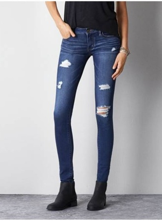 jeans shade cut up holes tight dark style holes jeans skinny jeans