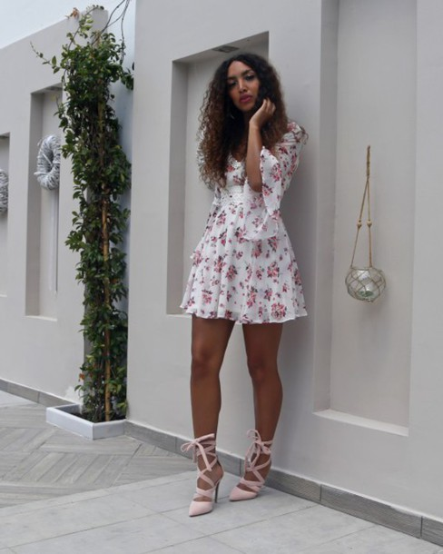 from hats to heels, blogger, dress, shoes, mini dress ...