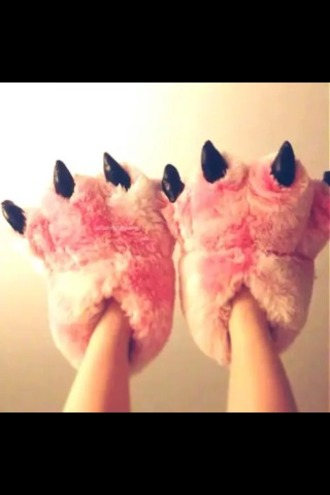shoes pink shoes dinosaur claw slippers claw slippers