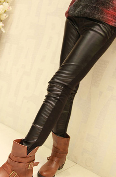 8ada54c25f7a4 front leather pants front leather leggings front faux leather pants black front  faux leather leggings black