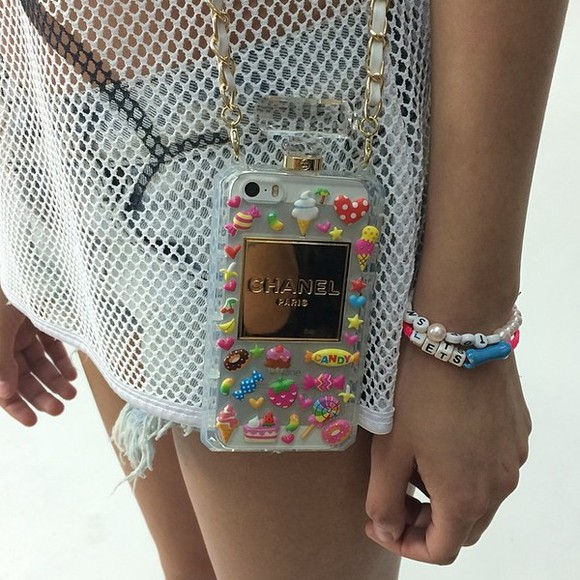 phone case jewels chanel purse stickers tumblr girl coco sweater chanel purse fashion
