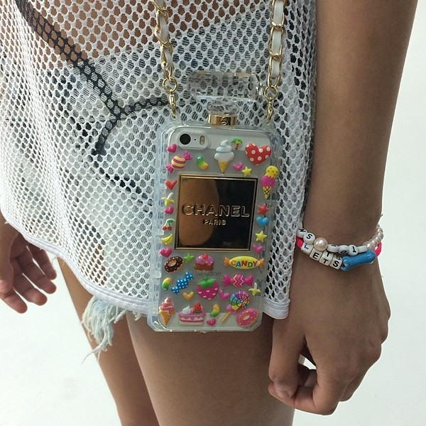 chanel phone cover purse stickers tumblr girl coco sweater chanel ...