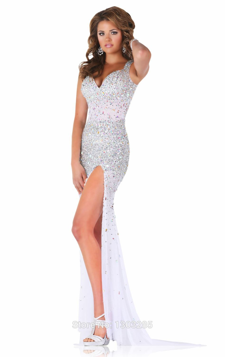 Aliexpress.com : buy sexy sweetheart mermaid with crystal and beading open back split floor length tulle dress for prom dresses robe de soiree from reliable prom dresses suppliers on sexybridalqueen