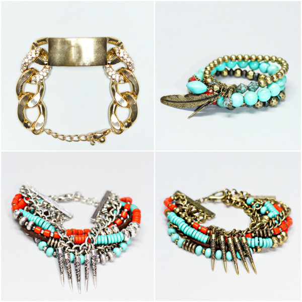 jewels diamonds tribal pattern bracelets