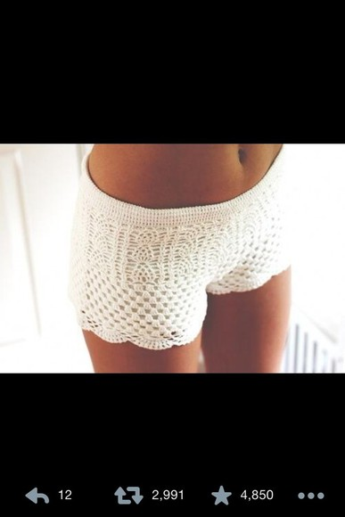 white shorts summer