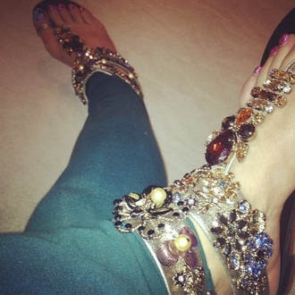 shoes bling sandals rhinestones jeweled sandals embellished sandals flat sandals