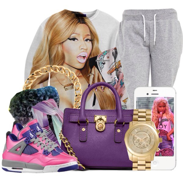 sweater nicki minaj jordans michael kors sweatpants jewels shoes bag