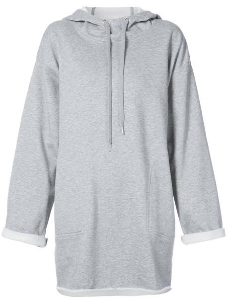 KENDALL+KYLIE hoodie women cotton grey sweater