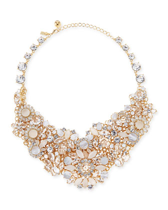 kate spade new york grand bouquet statement necklace, clear