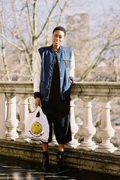 vanessa jackman,bag,jacket,anya hindmarch