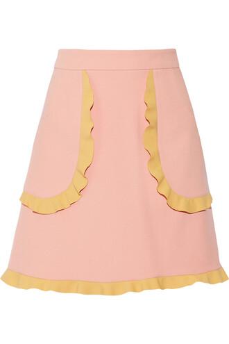 skirt mini skirt mini ruffle baby pink baby pink