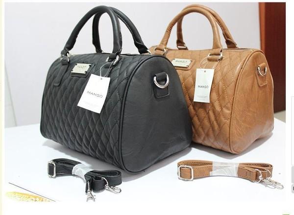 bag black brown tan purse mango gold cute handbag