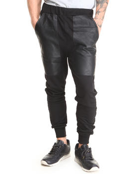 Buy Quilted Vegan Leather Patch French Terry Jogger Sweatpants Men's Jeans & Pants from Basic Essentials. Find Basic Essentials fashions & more at DrJays.com