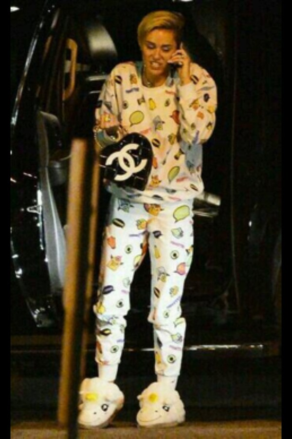 miley cyrus pajamas shoes slippers