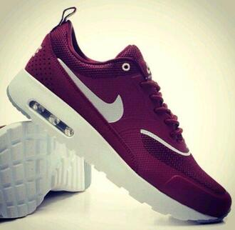 nike thea thea burgundy bordeaux trainers sneakers nike air air max