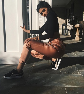 pants silk pants silk brown sweater
