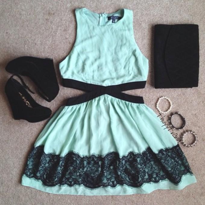 dress shoes bags bracelets summer blue dress lace dress