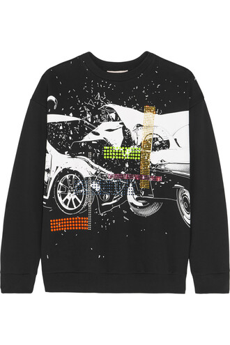 sweatshirt cotton black sweater