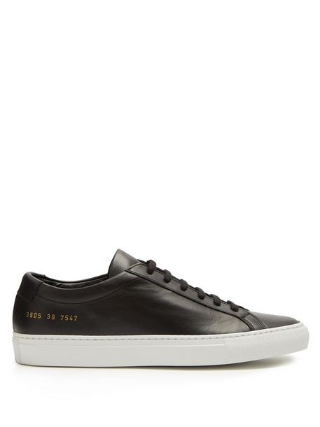 Common Projects top leather white black