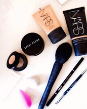 make-up,makeup brushes,bobby brown,nars cosmetics,foundation,beauty blender,cosmetics,bobbi brown