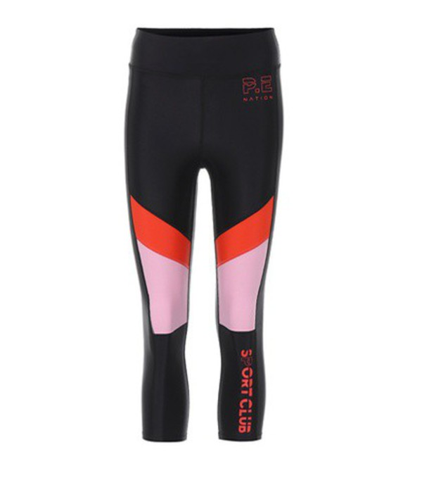 P.E Nation First Innings cropped leggings in black