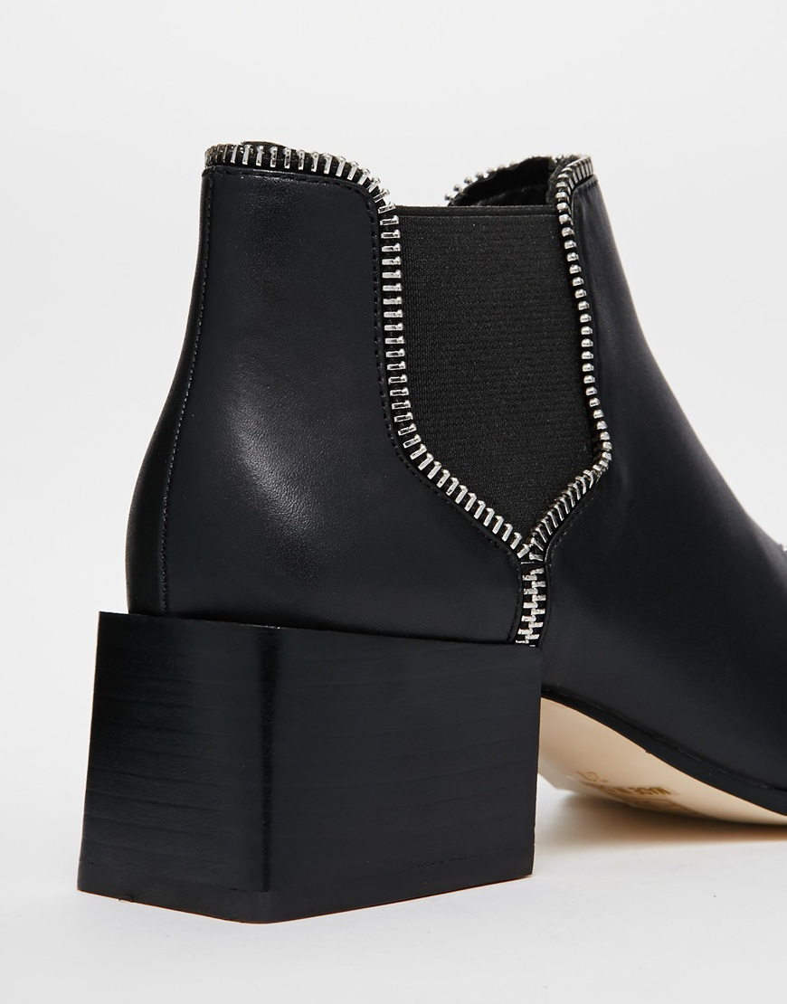 Senso mason ii black mid heel chelsea ankle boots at asos.com