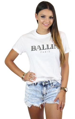 Ballin tee white