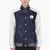 adidas originals x opening ceremony navy leather colorblock varsity jacket