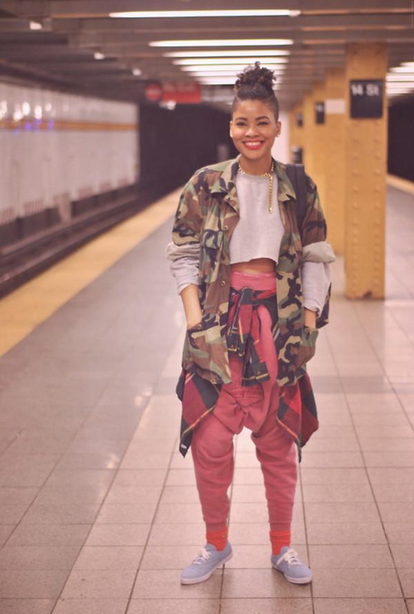 pants camo jacket crop tops sweatpants coat camouflage camouflage