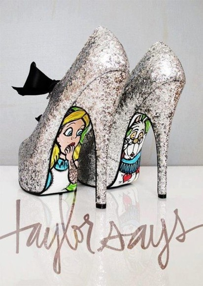 shoes alice in wonderland glitter shoes disney fairytale