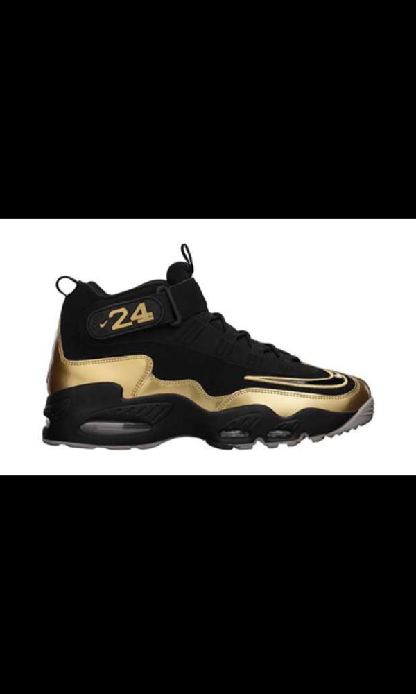 shoes griffey air max gold black white nike nike air max 1