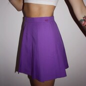 skirt,betty bones,purple,pleated skirt