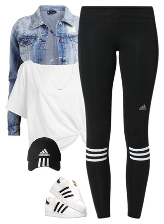 leggings adidas workout leggings workout white crop tops denim jacket activewear necklace pendant cap snapback adidas superstars adidas shoes