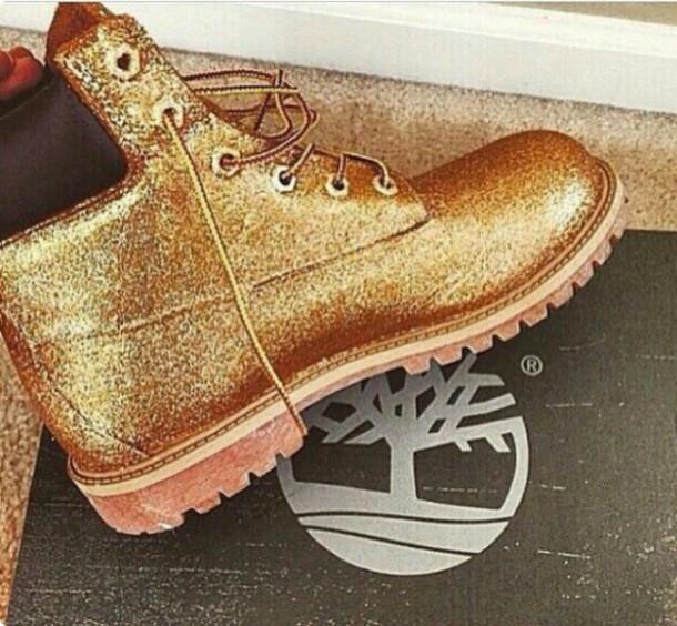 ea38f9b6aa10 shoes timberland gold glitter style gold shoes gold timberland boots boots  sparkle brand feminine luxury women