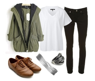 jacket shoes oxfords t-shirt jeans coat green winter outfits autumn/winter autumn outifts zip teenagers