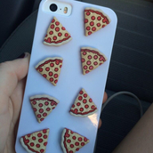phone cover,pizza,iphone case,iphone 5 case,3d pizza case turquoise